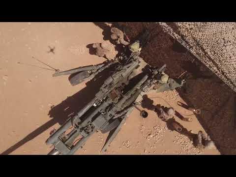 Artillerie der Marines in Syrien