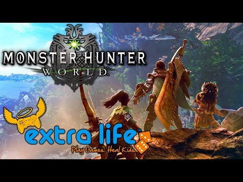 PART 4 - Extra Life 24hr Charity Stream! - Monster Hunter: World / Throne of Lies thumbnail