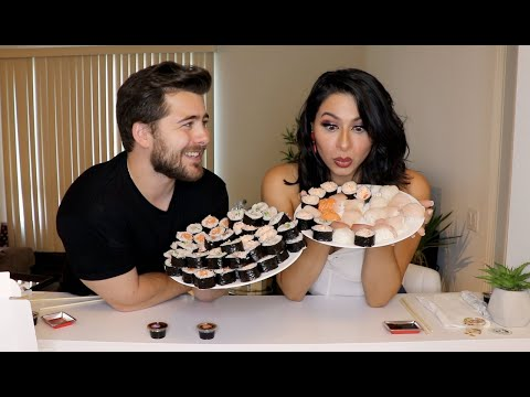 100 Sushi Challenge w/ A Girl From Tinder (100% real)