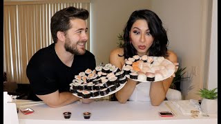 100 Sushi Challenge w/ A Girl From Tinder