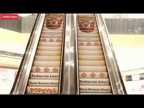 Global Steps Escalator Advertising - Global Steps, Yürüyen Merdiven Reklamı