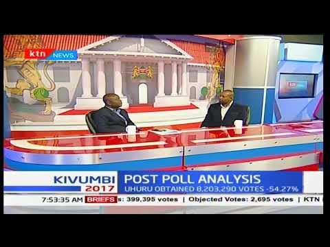 President elect Uhuru Kenyatta surpasses the 50 + 1 threshold as Raila Odinga trails by 44%