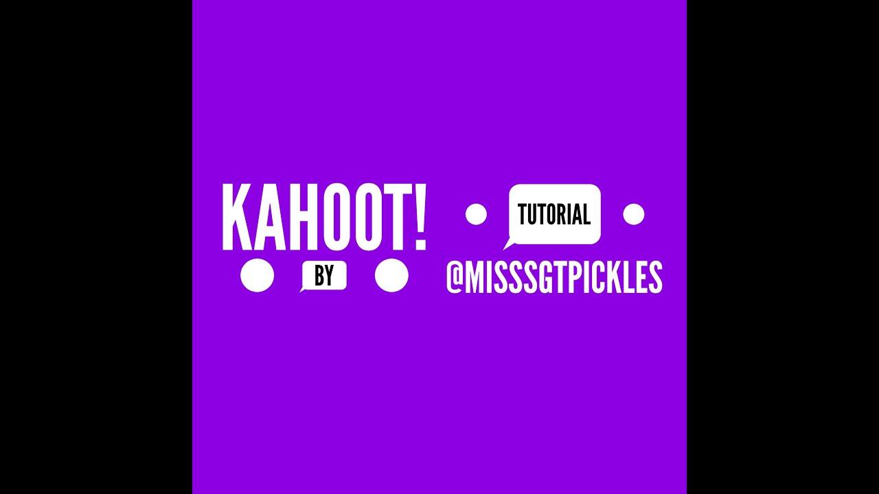 Kahoot! Tutorial - YouTube - photo#27