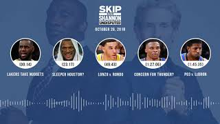 UNDISPUTED Audio Podcast (10.26.18) with Skip Bayless, Shannon Sharpe & Jenny Taft | UNDISPUTED