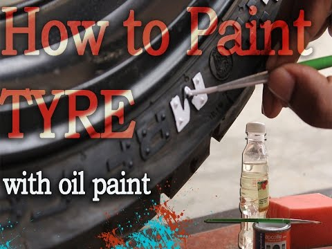 HOW TO PAINT TYRE side wall using oil paint (D.I.Y)