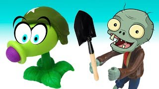 Plants vs ZOmbies PVZ 2GW2 compilations Toys PlayClayTV Aliexpress toy for Kids funny battle thumbnail