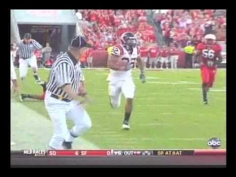 Darren Evans 54 yard TD run vs NC State