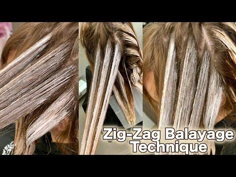 Zig Zag Balayage Technique , YouTube