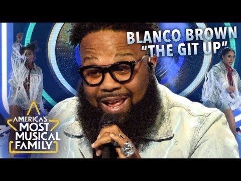"""Blanco Brown Performs """"The Git Up"""" Live on America's Most Musical Family"""
