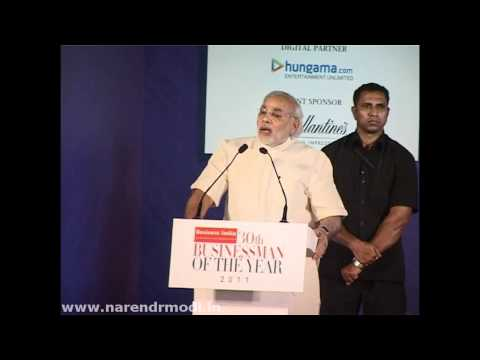 Shri Narendra Modi presents leading business award-Mumbai