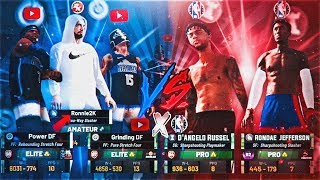 RONNIE2K + POWER & GRINDING DF VS D'ANGELO RUSSELL & RHJ (2 NBA PLAYERS) GAME OF THE YEAR! NBA 2K19
