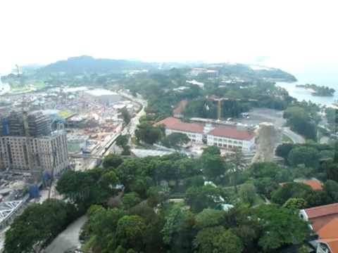 View from Sentosa Tiger Sky Tower, Singapore
