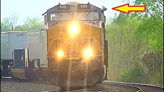 Brand New CSX 1776  and 911 Locomotives on Big Stack Train