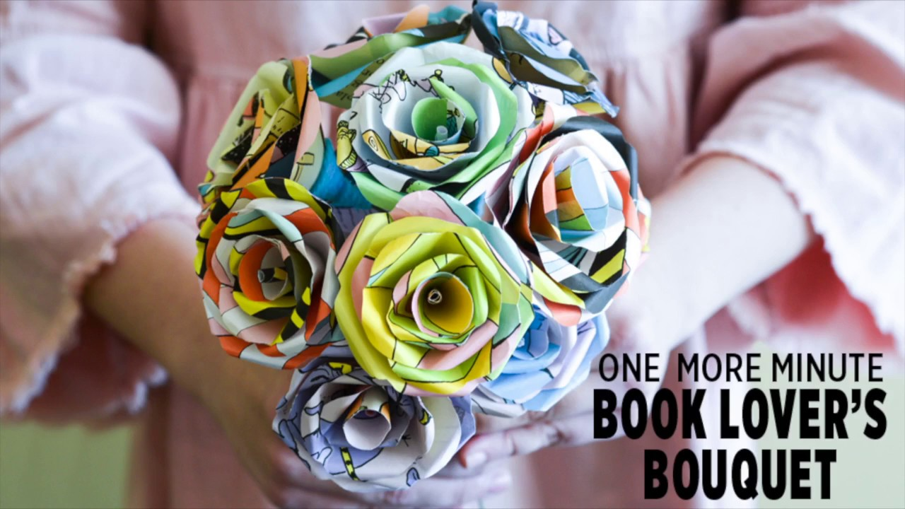 One More Minute How To Make Paper Flowers From Your Favorite Book