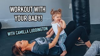 6 Awesome Exercises w/ Camilla Luddington to lose baby weight - FUN at home workout for women!