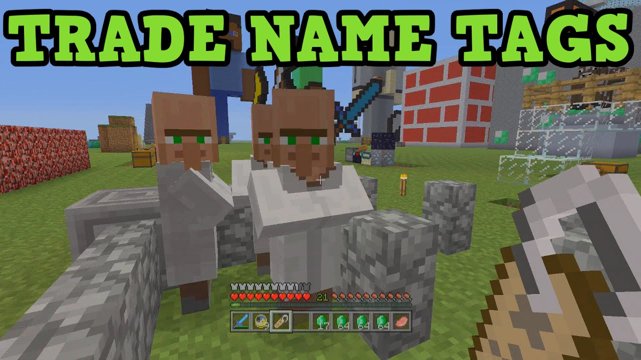 Minecraft Xbox 9 + PS9 How To Trade Name Tags
