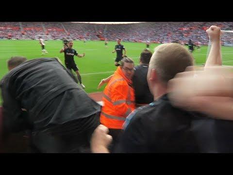 Javier Hernandez Goal & Celebration   Southampton v West Ham   West Ham Fans