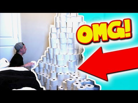 TOILET PAPER FORT PRANK (HE GOT MAD)