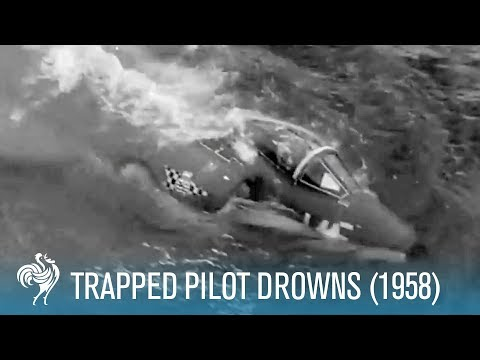 Trapped Pilot Drowns in Sinking Cockpit (1958) - Captured on Camera