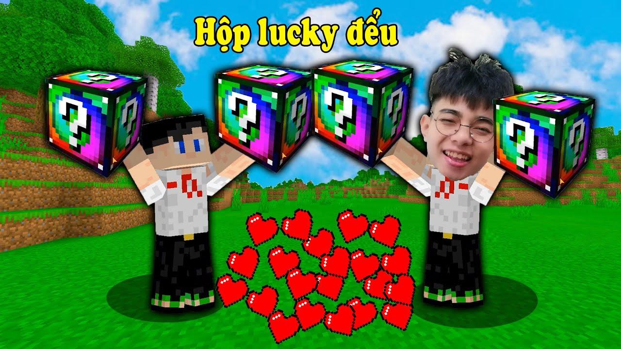 Lần Đầu Chế Tạo Được Hộp Lucky 7 Màu Cực Đểu Trong Minecraft