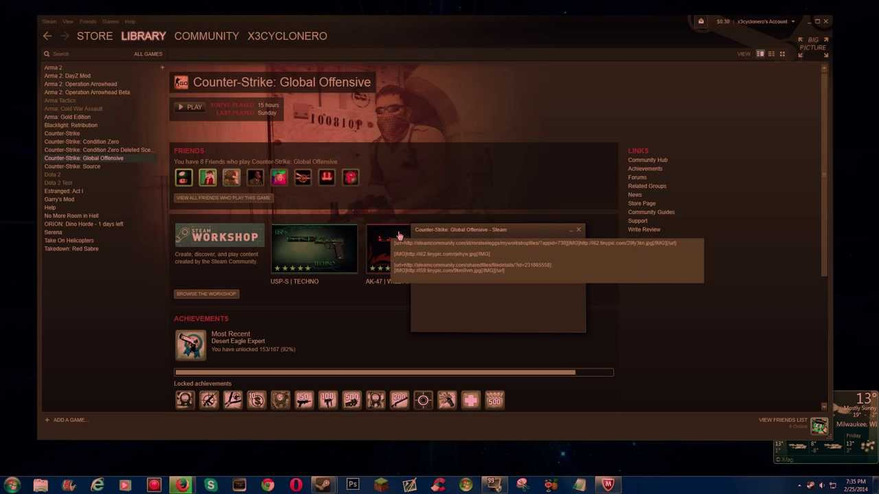 how to see servers on steam