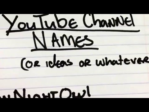 how to make a youtube channel name