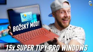 🖥 15x Super Tipy pro Windows: BOŽSKÝ MÓD a další triky pro tvůj počítač! | WRTECH [4K]