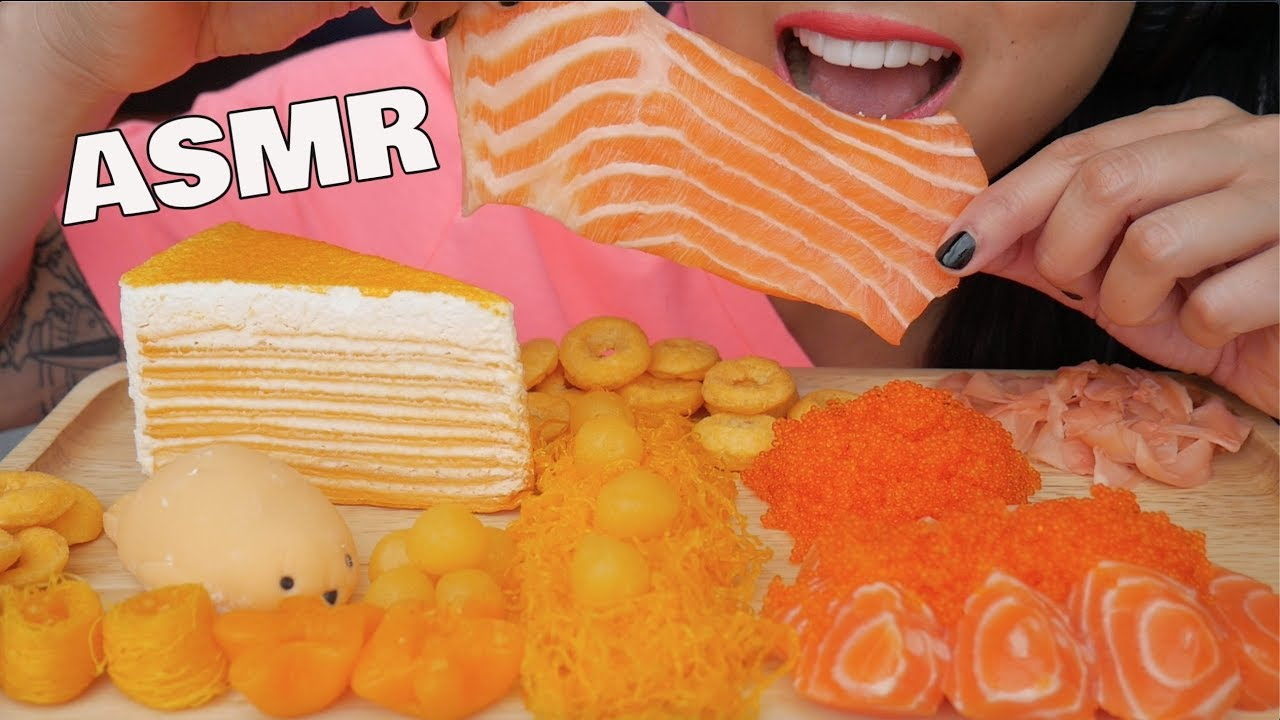 Asmr Orange Crepe Cake Salmon Sashimi Thai Delicate Dessert Mochi Eating Sounds Sas Asmr Youtube 1 cup of sweet rice flour 1/2 cup sugar (you can put more if you want it sweeter) 1/3 cup of water cornstarch for dusting parchment. asmr orange crepe cake salmon sashimi thai delicate dessert mochi eating sounds sas asmr