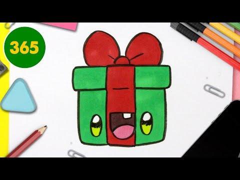Comment Dessiner Un Cadeau De Noël Kawaii Dessins Kawaii