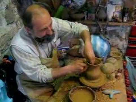 Lavorazione della ceramica a Plovdiv (Bulgaria)