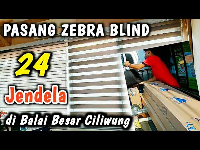 Zebra Blind | Pasang Blind 24 jendela,  di Balai Besar Ciliwung Cisadane 082310989451 #gudanggorden