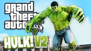 GTA 5 Mods - THE HULK MOD 2.0 w/ NEW ABILITIES! GTA 5 Hulk Mod 2.0 Gameplay! (GTA 5 Mods Gameplay)