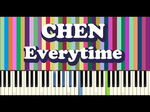 EXO 첸(CHEN) - Everytime piano cover 태양의후예 OST