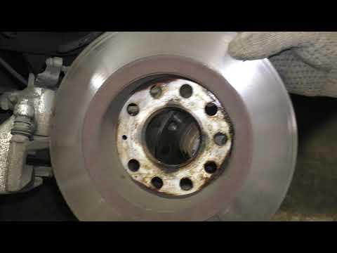 Замена задних тормозных дисков Шкода Октавия А7