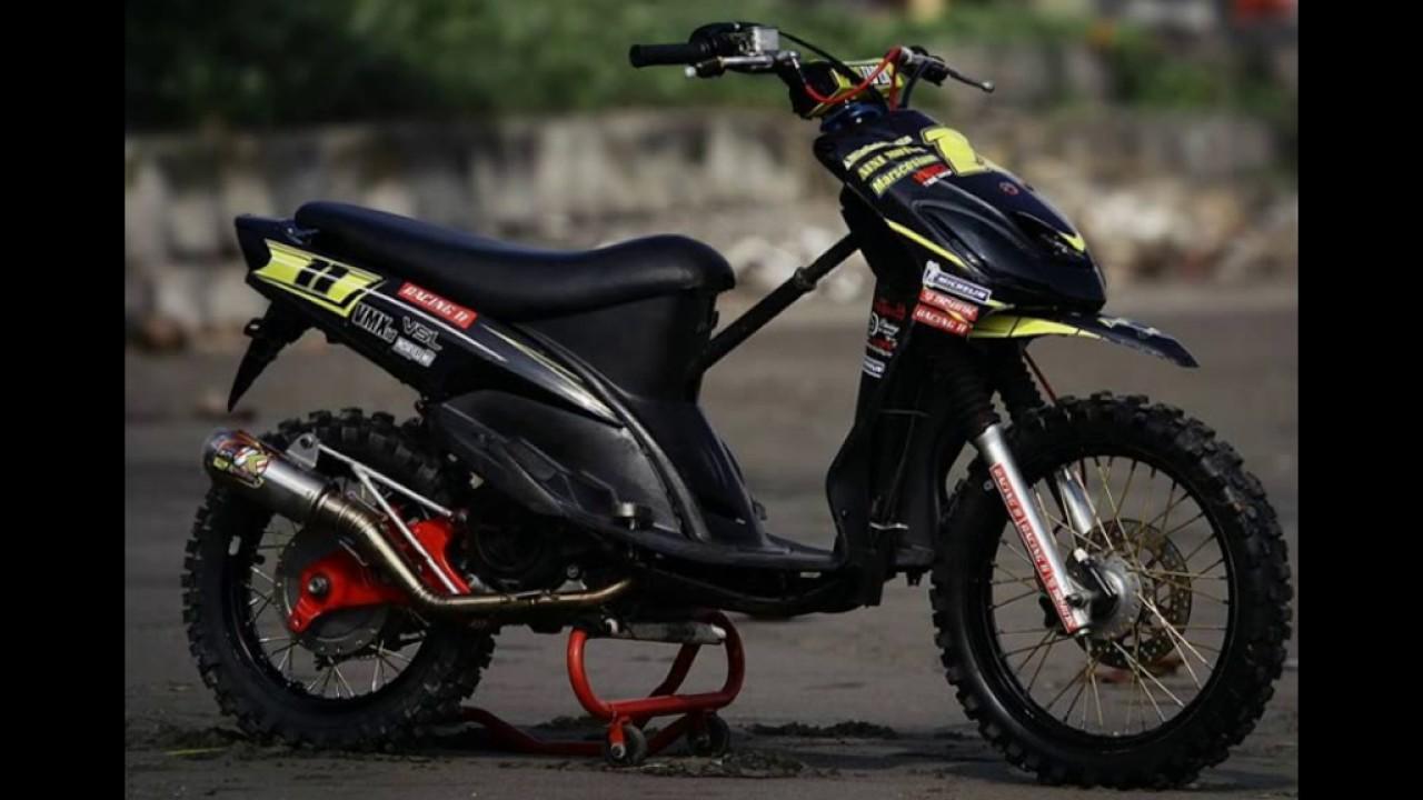Video Modifikasi Motor Matik Yamaha Mio Modif Trail
