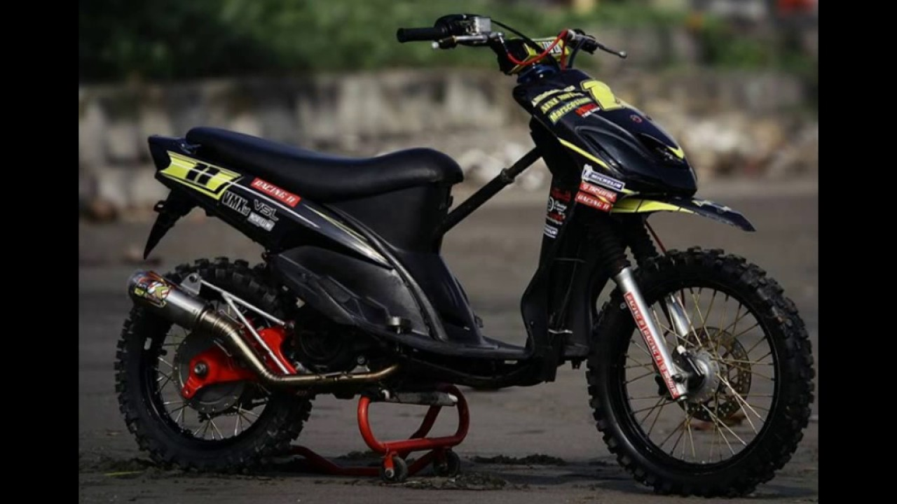 Modifikasi Motor Mio Sporty Jadi Trail Kumpulan Modifikasi Motor