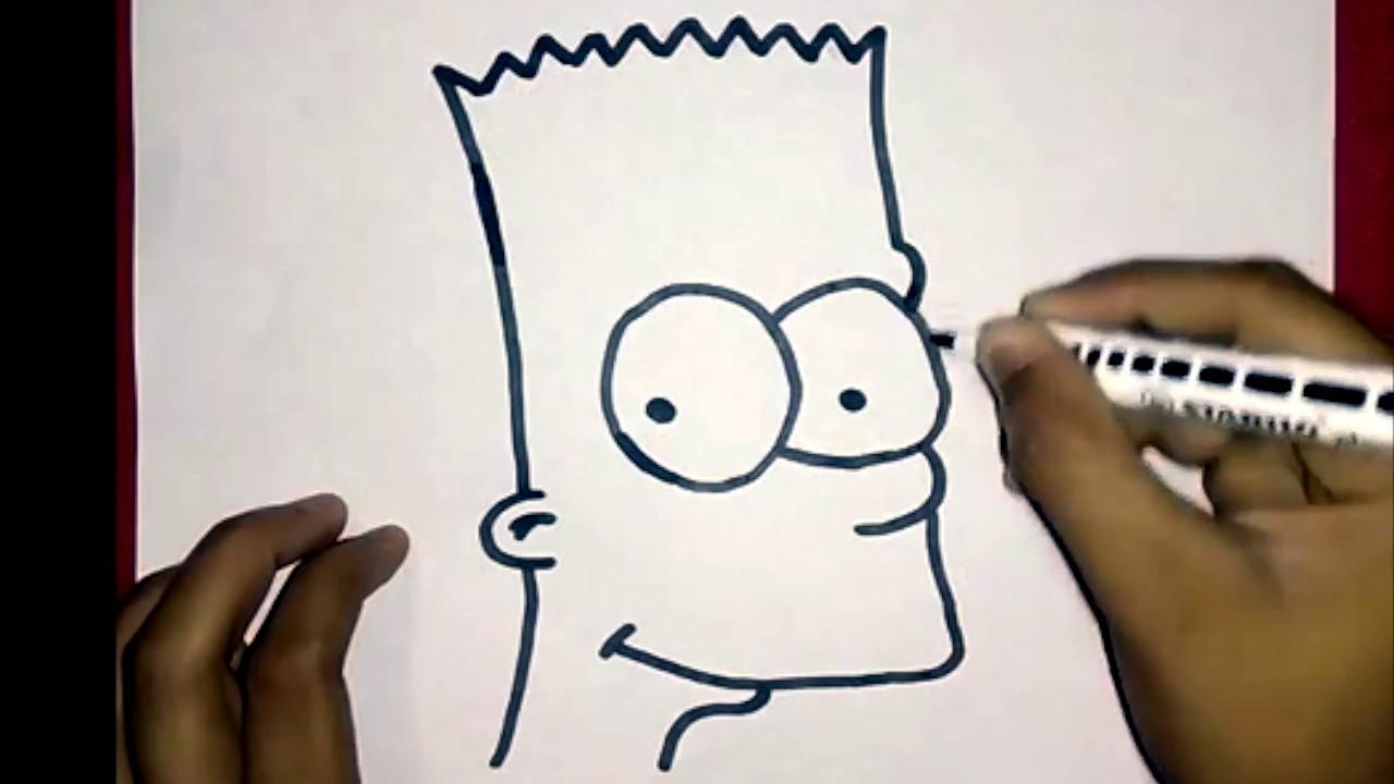Comment dessiner bart simpson facilement barsimpson youtube - Comment dessiner bart simpson ...