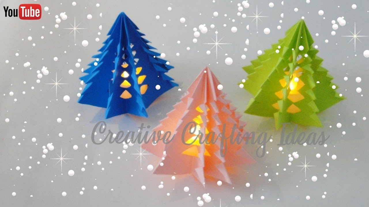 3d Tree Live Wallpaper Christmas Tree With Paper 3d Paper Christmas Tree Diy