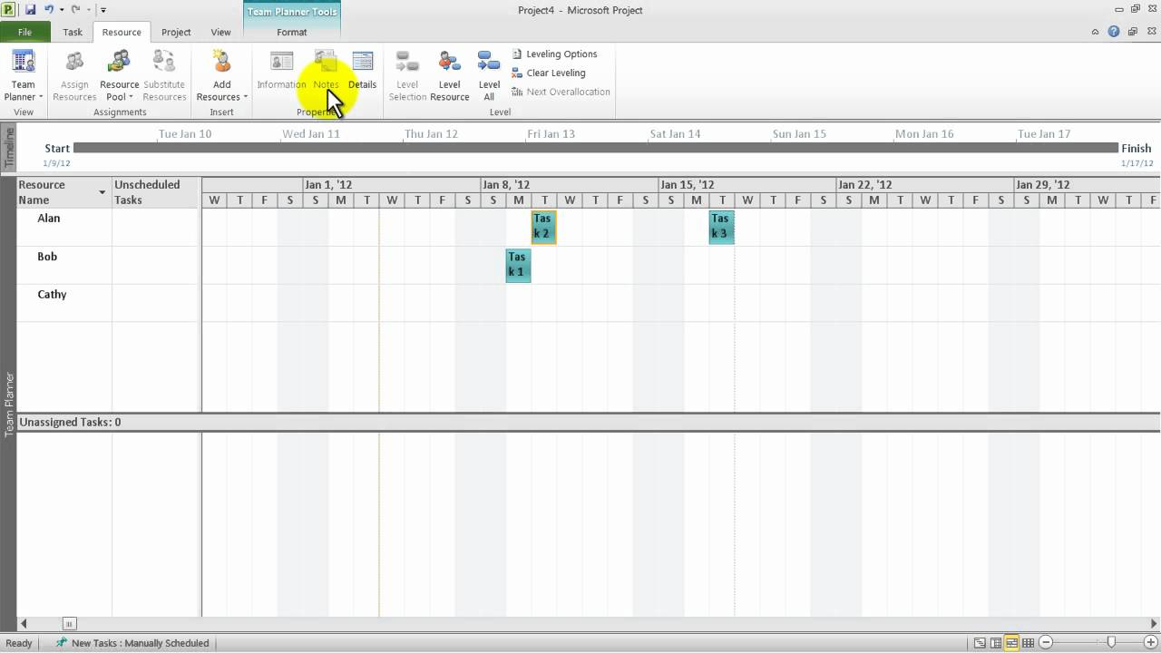 Microsoft Project 2010 How To Schedule People Using Team