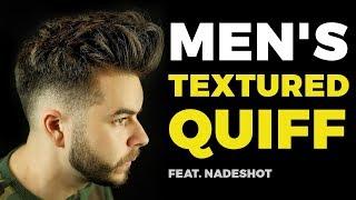 MEN'S TEXTURED QUIFF ft. Nadeshot | Best Men's Haircut 2019 | Alex Costa