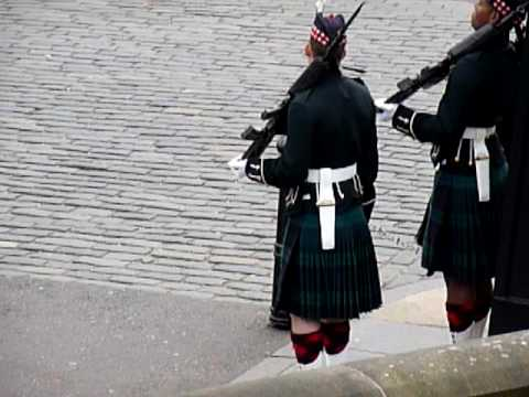 Changing of the Guard at Edinburgh Castle, Scotland