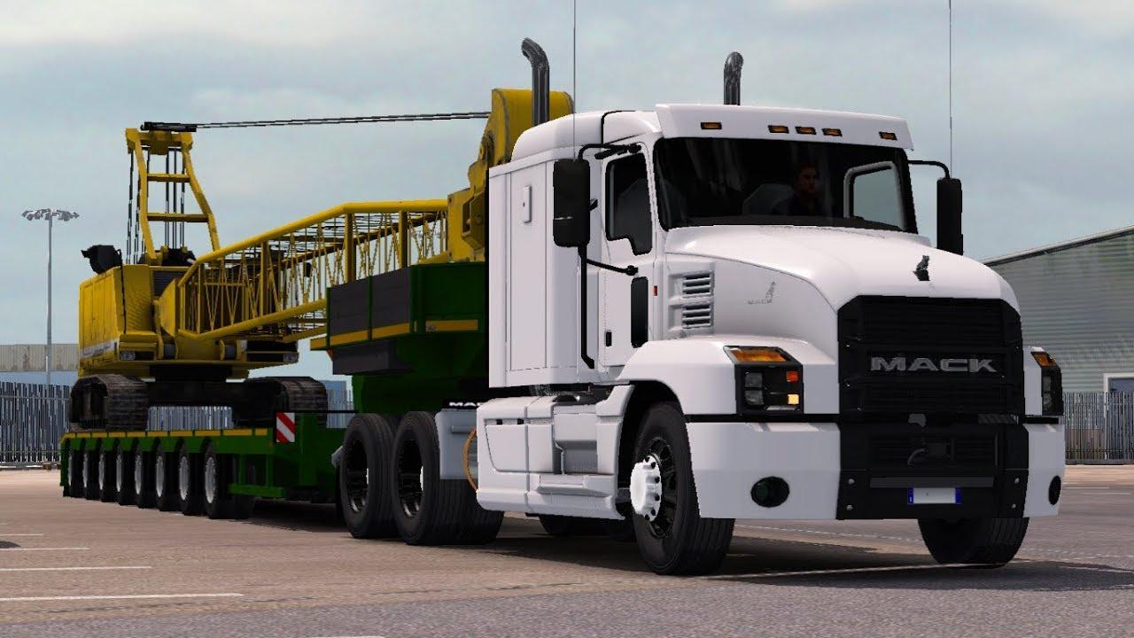 [1 32] Euro Truck Simulator 2   Mack Anthem   Mods