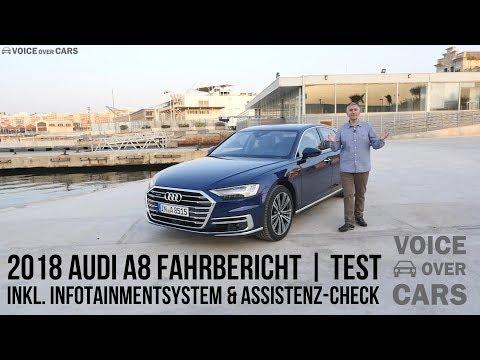 2018 Audi A8 Fahrbericht Test Review Tech Check Infotainment Voice over Cars - A8 kurz / lang / W12