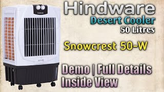 Hindware 50 Litres Air Cooler 'SnowCrest-50W' Demo & Full Details @ Mehrotra Electronics -lin Hindi|