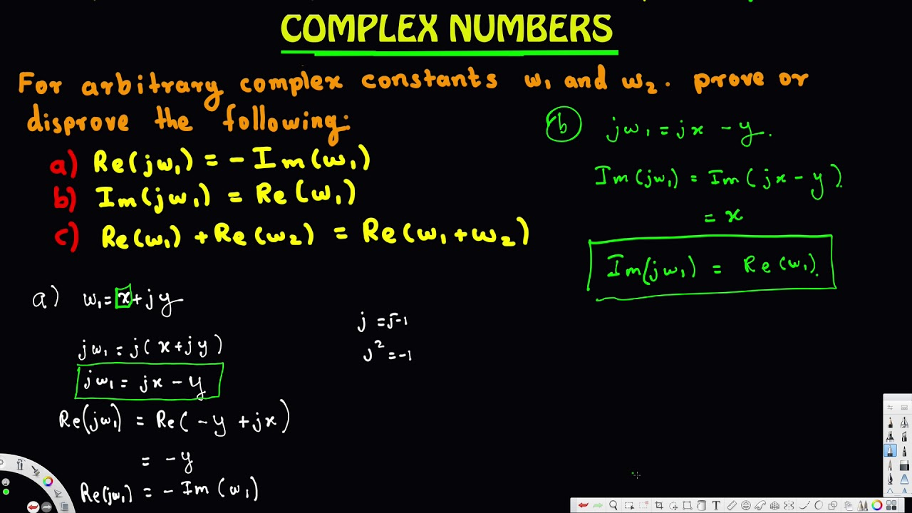 For Arbitrary Complex Constants W1 And W2 Prove Or Disprove The Followi Complex Numbers Complex System What is addition of complex numbers