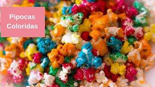 Como fazer Pipocas Coloridas
