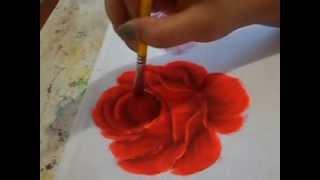 Como pintar rosa vermelha – Simone Moraes