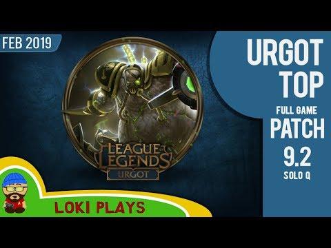 Urgot Top Lane - Patch 9.2 - League of Legends - The Trolliest of Trolls thumbnail