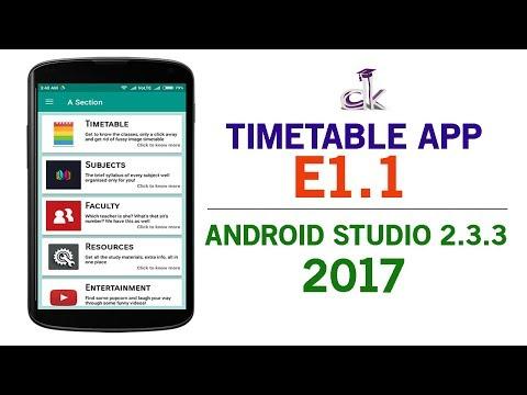 Timetable App Tutorial E1.1 - Writing the Java Code