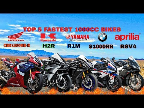 Top 5 Fastest 1000cc Motorcycles 2021 : Honda CBR1000RR-R vs R1M vs S1000RR vs  RSv4 1100 vs H2R